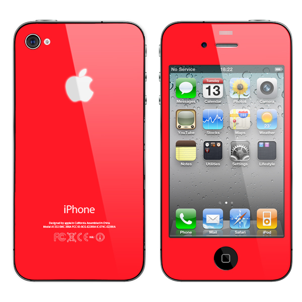 Convert your iphone 4 to red